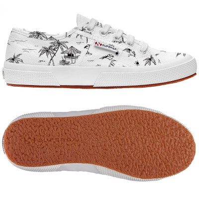 2750 - FANTASY COTU WHITE-BLACK PALM TREES